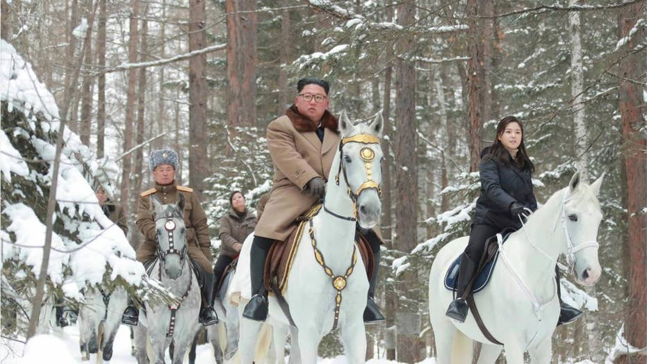 Kim Jong Un rides white horse through historic battlefields, experts see symbolism