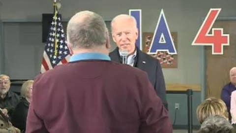 Joe Biden's heated exchange with Iowa voter