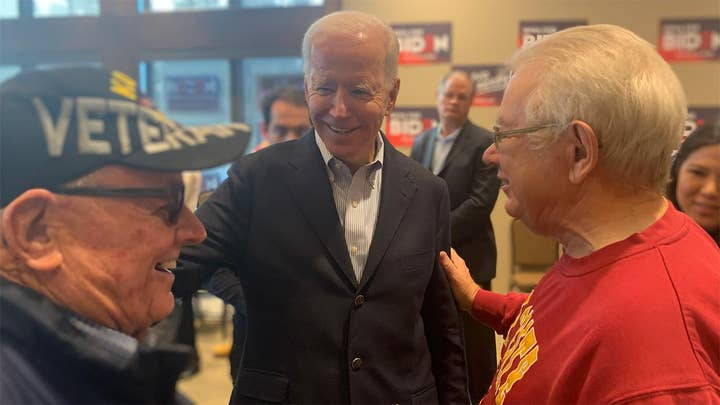 Biden nears end of eight day Iowa bus tour