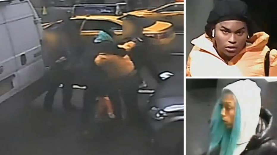 Barneys robbery suspects brawl with employees outside store in New York City