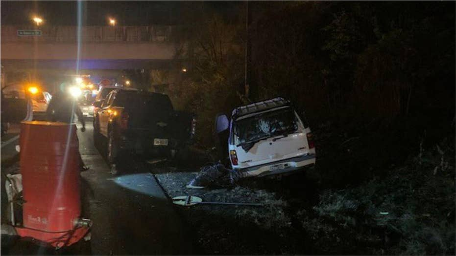 Officials: Suspected drunk driver hits 'entire crew' of road workers on Virginia interstate