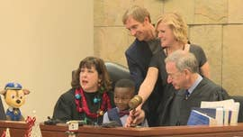 Michigan boy's entire kindergarten class shows up to adoption hearing: 'Too cute!'