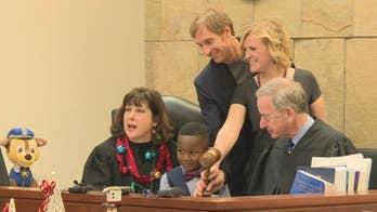 Michigan boy's entire kindergarten class shows up to adoption hearing: 'Too cute!'