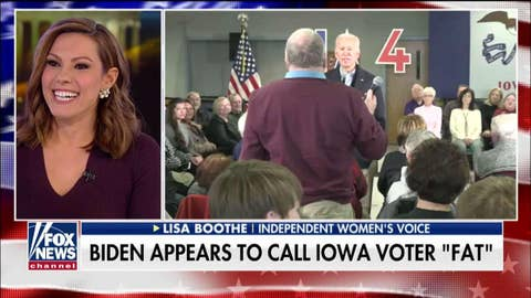 Tucker, Boothe on Biden's Iowa confrontation: Fat-shaming a voter is not a great idea