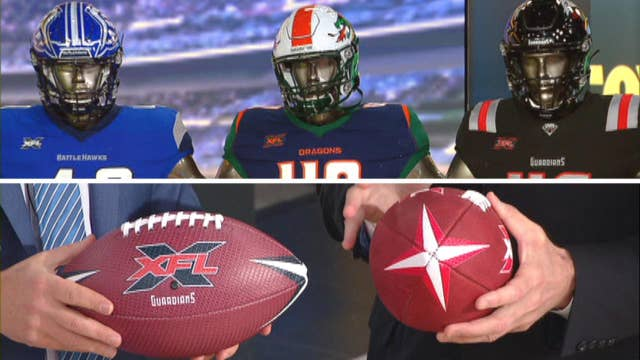 XFL unveils official uniforms, game balls for 8 teams kicking off league in 2020