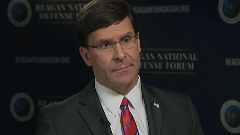 Mark Esper discusses the challenges to US national security following Florida Navy base shooting