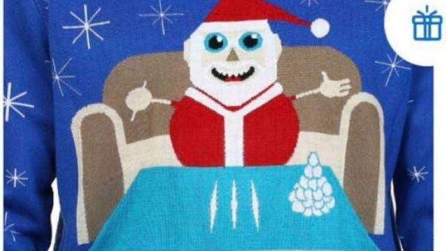 Walmart removes 'cocaine Santa' sweater from Canadian website