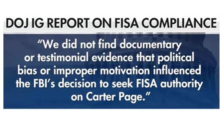 DOJ releases Inspector General's report, no political bias
