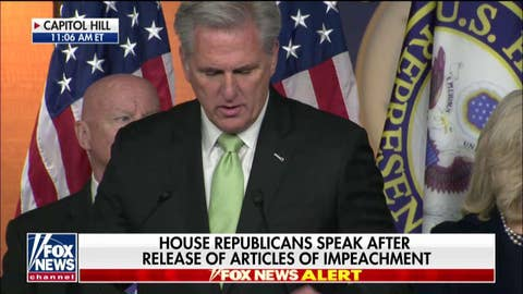 Kevin McCarthy: Dems cannot get over the fact Trump won the election