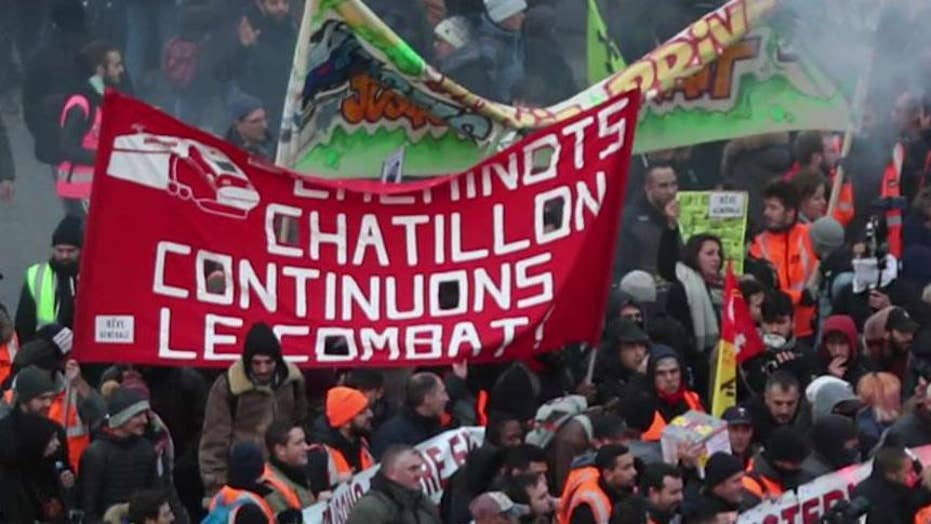 French government reveals changes to pension plan amid strikes
