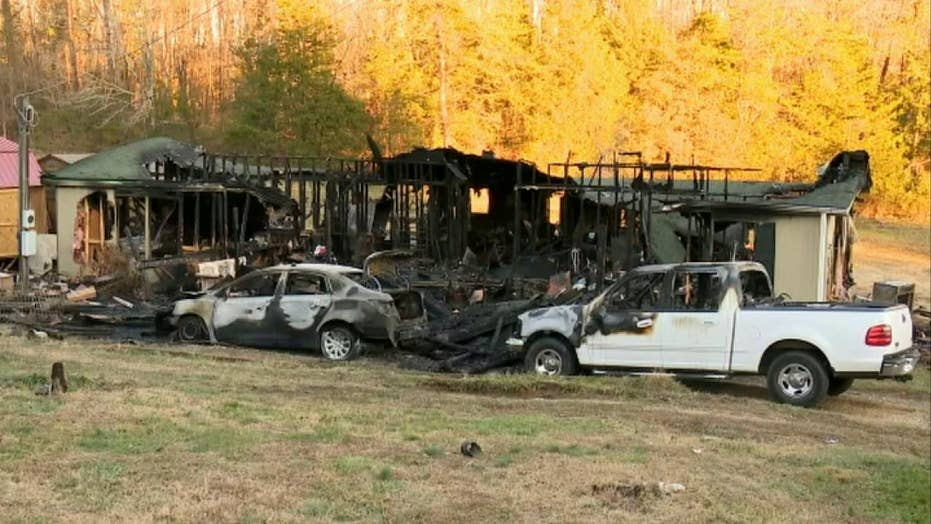 Christmas tree lights spark fire that destroys Tennessee home