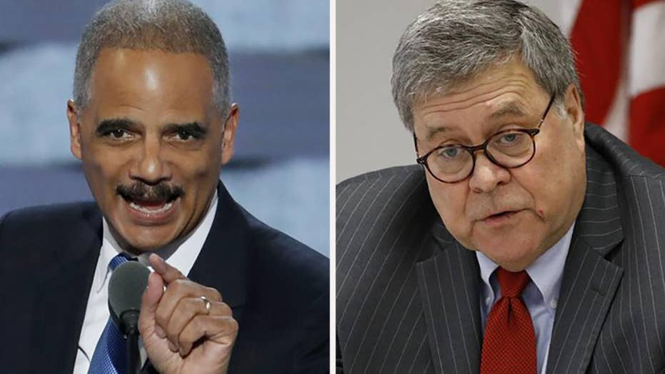 Eric Holder rips Attorney General Bill Barr for his 'loyalty' to Trump
