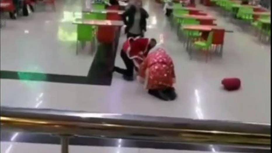 Santa brawl breaks out in Russia mall