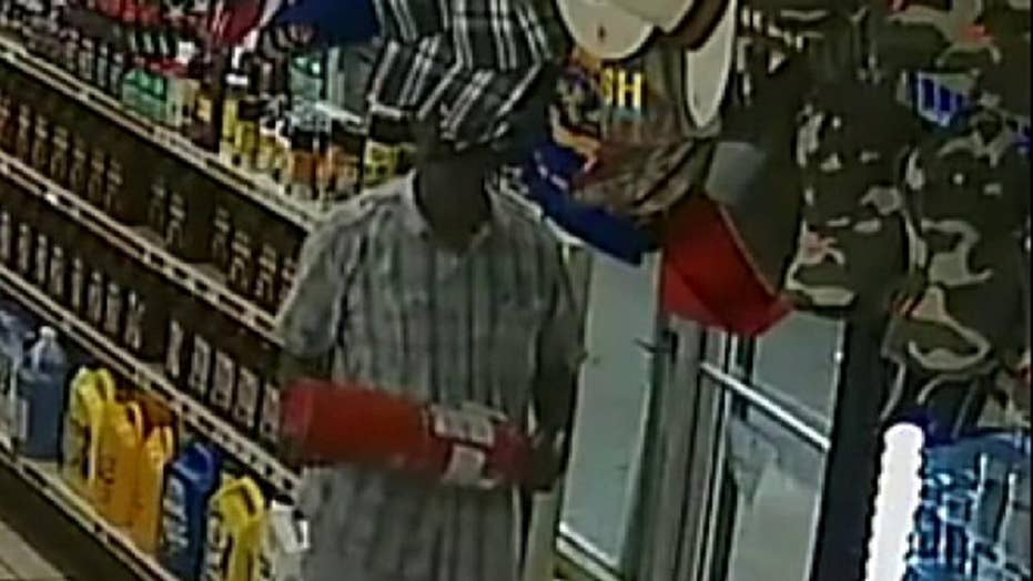 Raw video: Florida man tries to break glass door to avoid paying for a soda