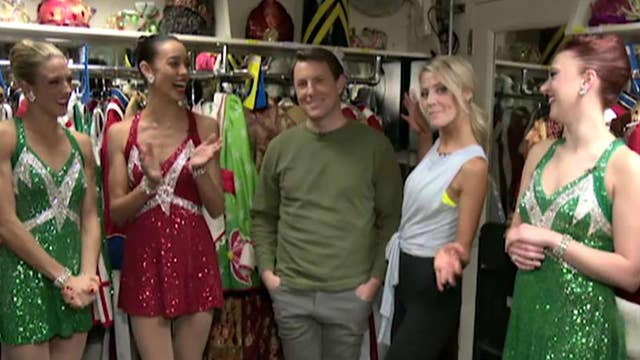 Todd Piro and Carley Shimkus go backstage with the Rockettes