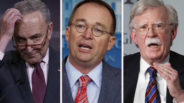 Schumer calls for Mulvaney, Bolton to testify during expected Senate impeachment trial