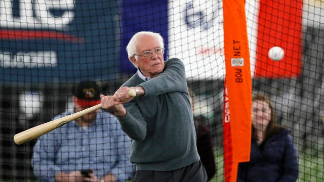 Bernie Sanders goes to bat for minor league baseball on the campaign trail