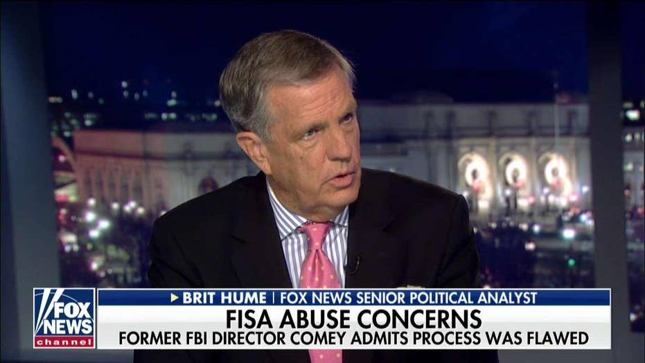 Brit Hume rejects Adam Schiff's claims about FISA abuse knowledge