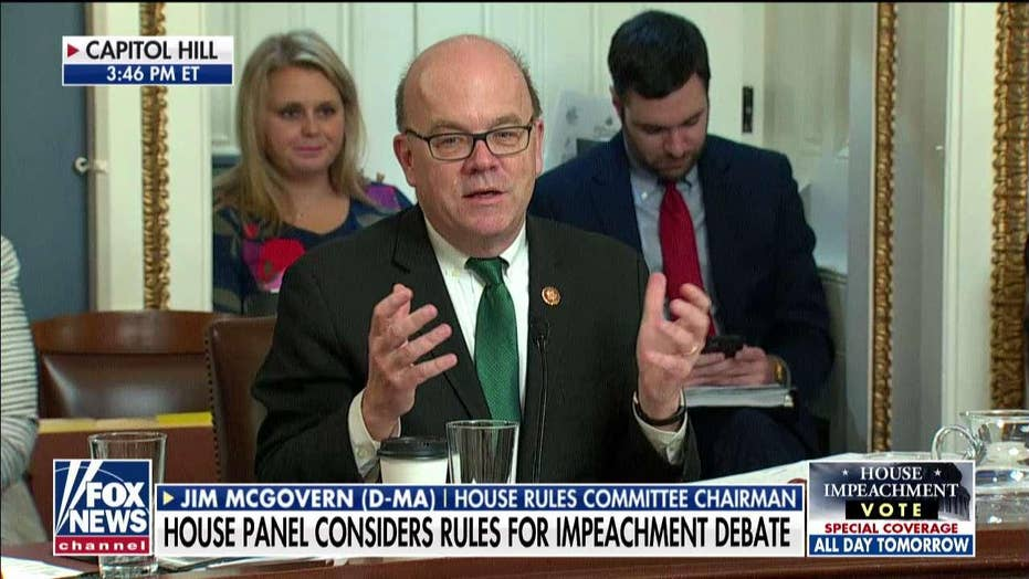 Dem Chairman McGovern says impeachment intended to stop 'crime in progress,' prevent 'rigging' 2020 election