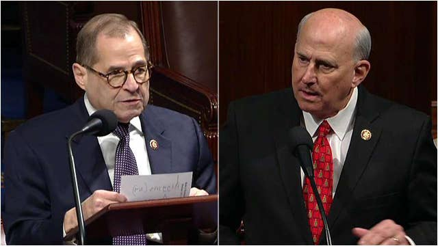 Tempers flare on House floor as Rep. Louie Gohmert shouts at Rep. Jerry Nadler