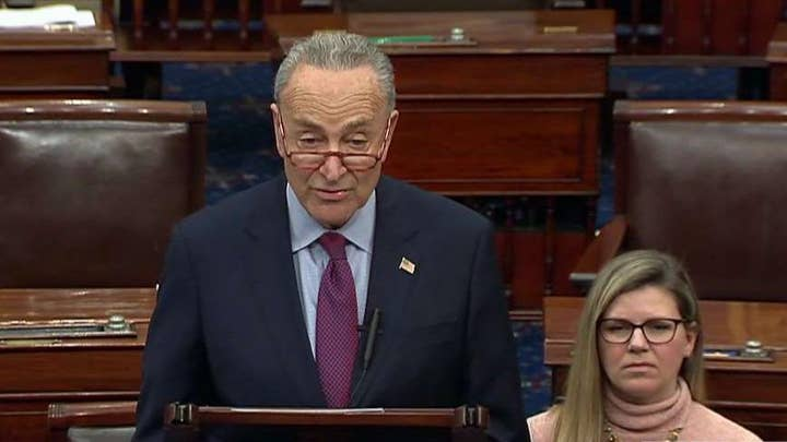 Schumer accuses McConnell of plotting the most rushed Senate impeachment trial in history