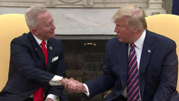 Rep. Jeff Van Drew announces he's switched from Democrat to Republican during Oval Office meeting with Trump