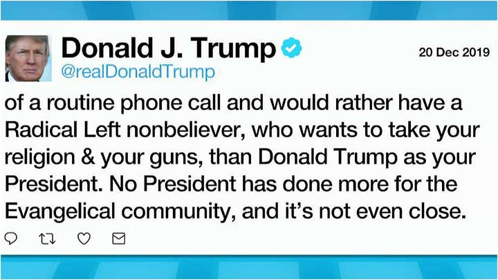 President Trump fires back after Christianity Today calls for his removal from office following impeachment