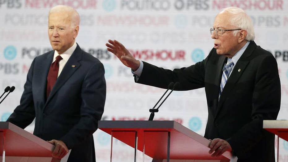 Democratic presidential candidates respond to lack of representation at debate, take aim at Trump's economy