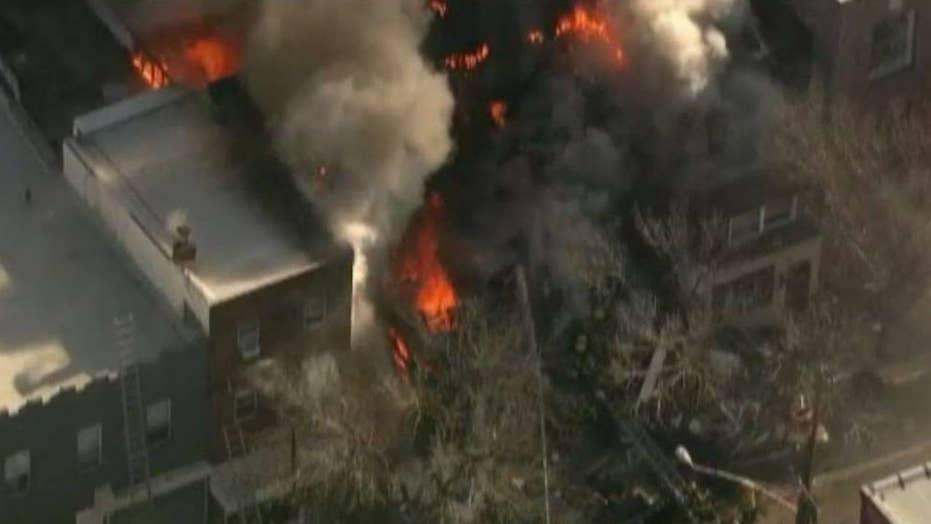 Suspected gas explosion destroys South Philadelphia home