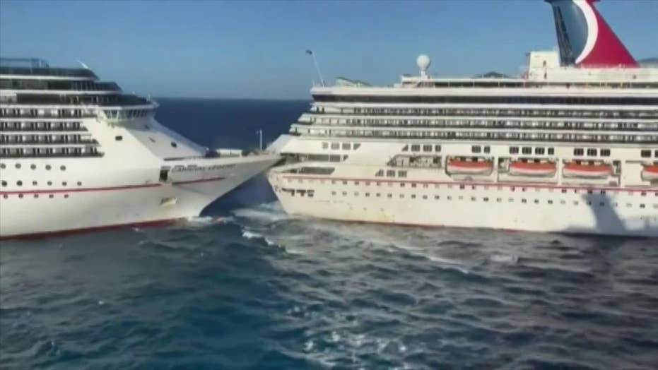 Carnival Cruise Line ships collide in Mexico