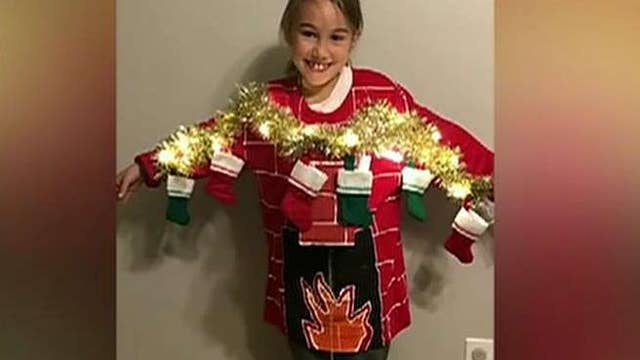 Mom designs epic 'ugly Christmas sweater'