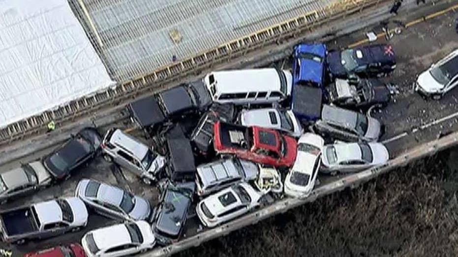 At least 51 people injured in massive 69 car pileup on Virginia highway