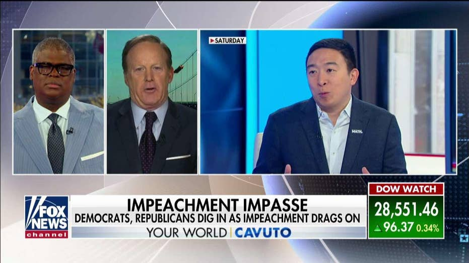Sean Spicer: Yang struggling in 2020 Dem field because he's being 'pragmatic', not impeachment-minded