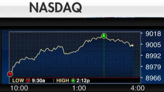 Nasdaq closes above 9,000 for the first time