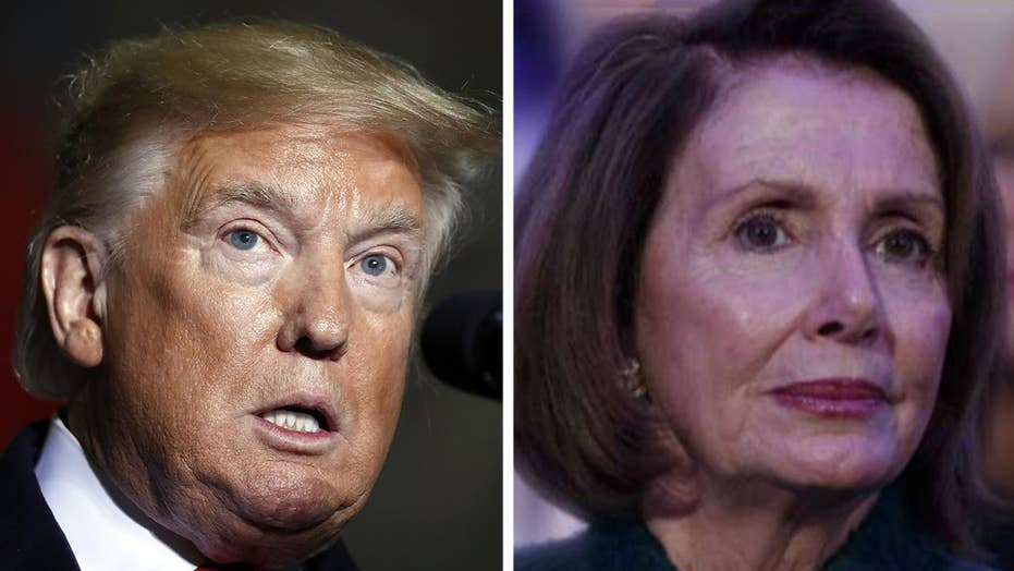 President Trump blasts 'crazy Nancy Pelosi' over 'scam impeachment'