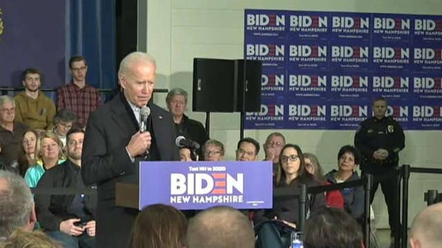 Hecklers chant 'quid pro Joe' at Biden event in New Hampshire