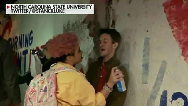 Conservatives punched, spray painted in the face on college campuses across America