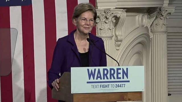 Elizabeth Warren delivers New Year's Eve speech in Boston