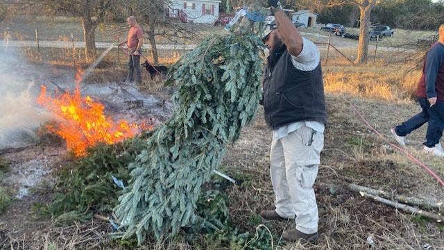 Army veteran recycles Christmas trees into canes