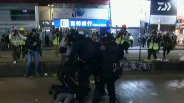 New Year's protests rock Hong Kong
