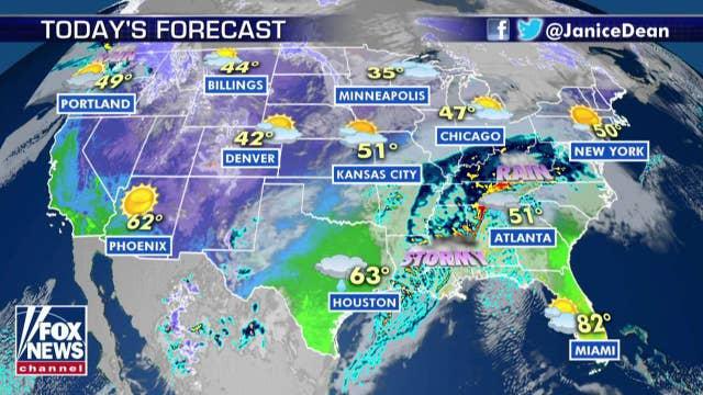 National forecast for Thursday, January 2
