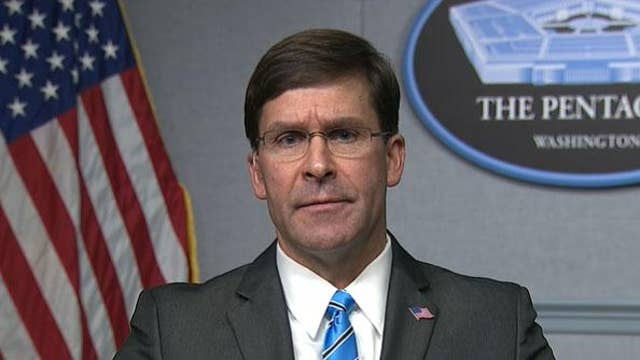 Defense Sec Esper: Iran will face 'severe response' if U.S. is challenged