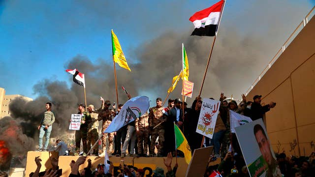 Iraqi protesters attack US Embassy in Baghdad
