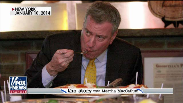 John Stossel: NYC's de Blasio 'stupid about commerce' in feud with Domino's over hawking pizzas in Times Square