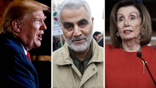 Democrats slam Trump for airstrike against Soleimani