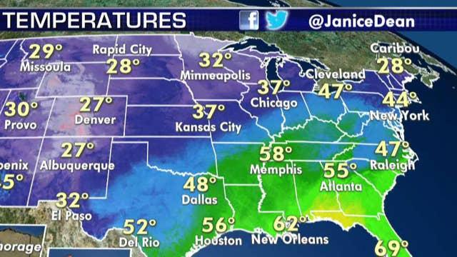 National forecast for Friday, January 3