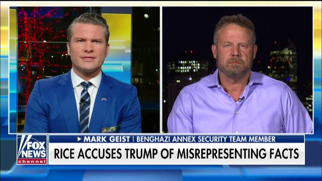 Mark Geist reacts after Susan Rice accuses Trump of misrepresenting Soleimani facts