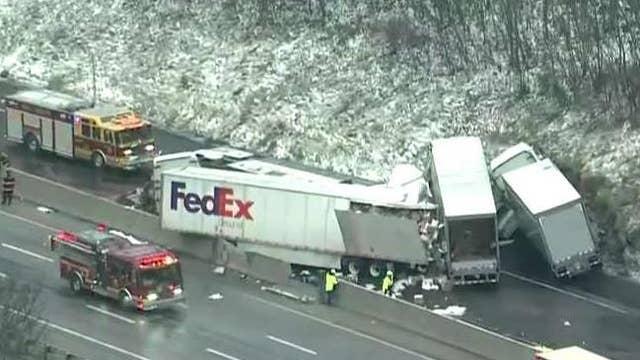 5 dead, 60 hurt in huge crash on Pennsylvania Turnpike