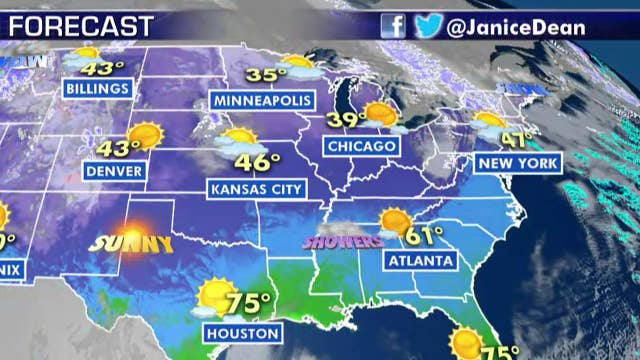 National forecast for Monday, January 6
