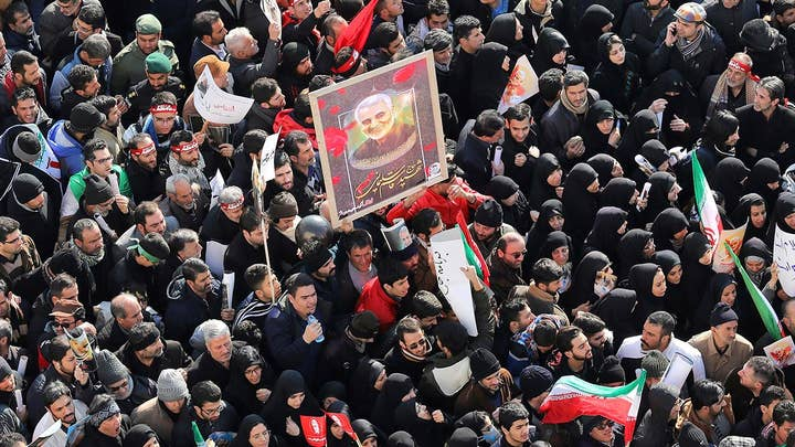 Tens of thousands take to streets in Iran to mourn Gen. Soleimani